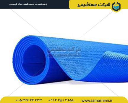 رول آبی رنگ تولی شده سماشیمی